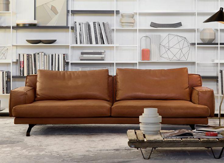 Lema sofa canap cuir brun pinterest canap s for Canape daim gris