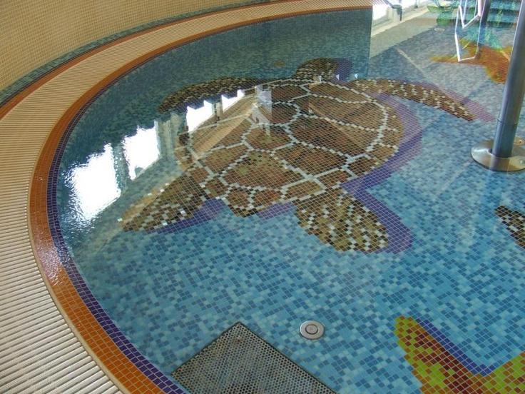 Mosaic Mosaic Mosaic Sea Turtles In The Pool!
