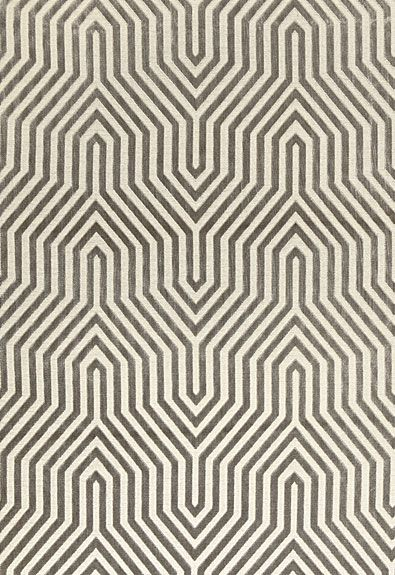 Vanderbilt Velvet in Greige by @Mary McDonald from @Schumacher — Fabric Wallcovering Trimming Furnishing #fabric #geometric #grey