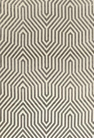 Vanderbilt Velvet in Greige by @Mary McDonald from @Schumacher — Fabric Wallcovering Trimming Furnishing #fabric #geometric #grey