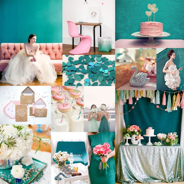 Teal, Pink & Silver. AKA a perfect picture to convince my future husband that these colors will look great for a wedding. Mayyyyyybe I'll do teal & magenta though :)