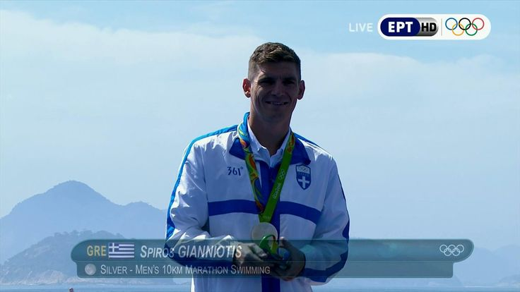 Wow!!!!!! What an exciting finish! #Silver_medal for #Greek #SpyridonGianniotis Open Sea #marathonswimming #Rio2016  His legacy in #Olympicgames representing #Greece in 2000... 2004... 2008... 2012... and.... 2016 will be unforgettable! #respect for that #giant of #determination and #willpower! #proudtobeGreek Thank U Spyros!