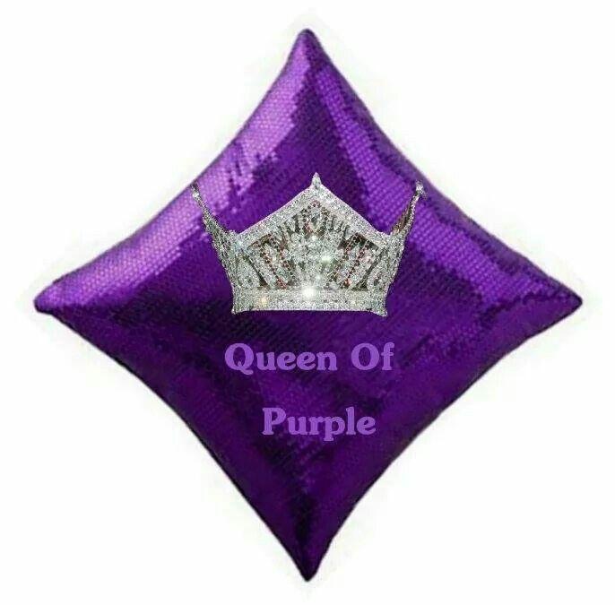 Queen Of Purple Pillow