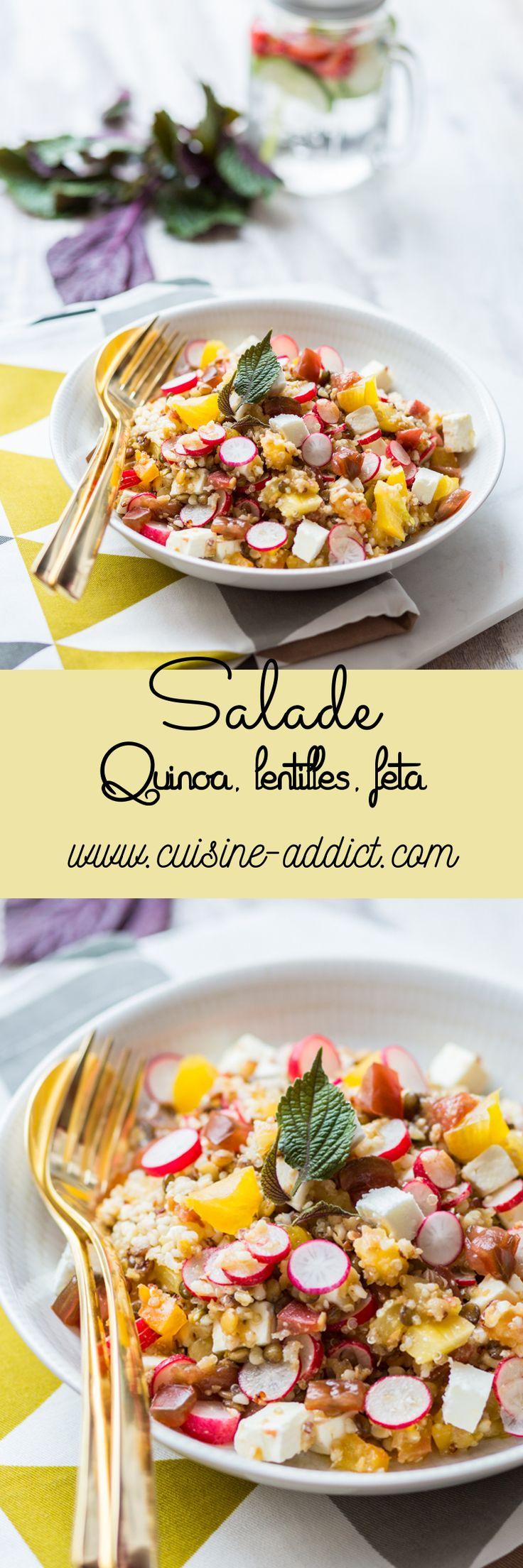 Salade de Lentilles & Quinoa à la Feta via @cuisineaddict