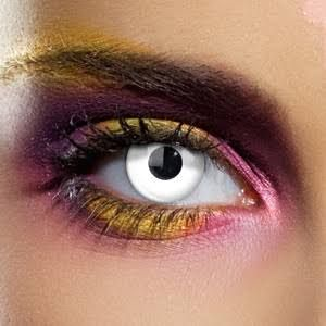 white costume contact lenses - Google Search