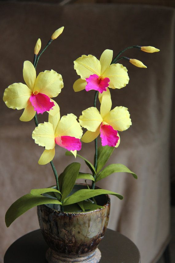 Handmade Orchid Paper orchid Cattleya Orchid by FlowerBazaar, $18.00