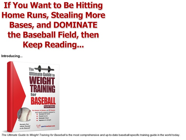 The Ultimate Guide To Weight Training For Baseball Review  Get Full Review : http://scamereviews.typepad.com/blog/2013/02/el-arte-del-sexo-tantrico75-comicion-get-for-free.html