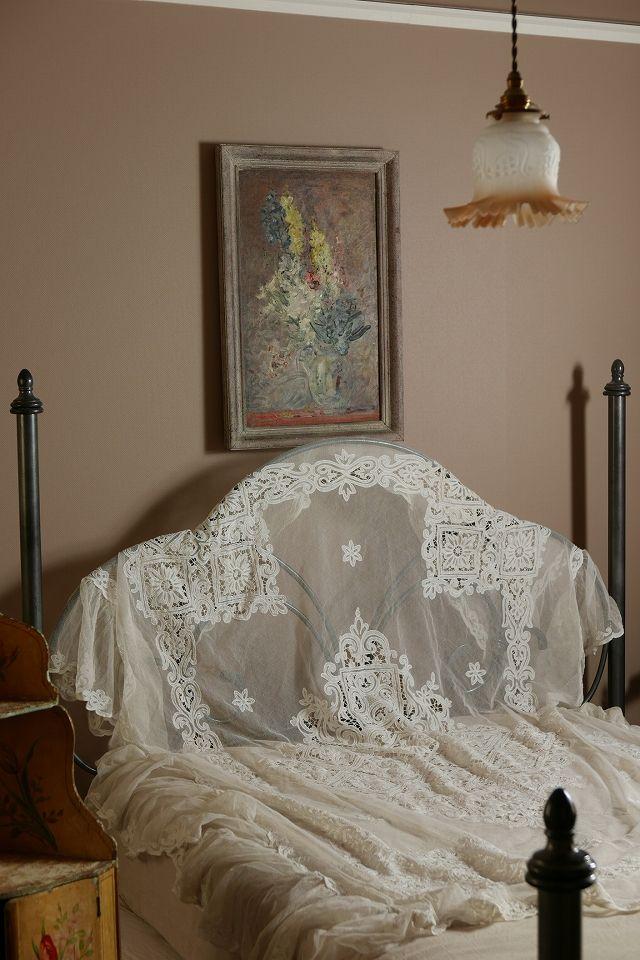 アンティーク マルチフリルレースカバー(アイボリー) French Vintage Lace Cover