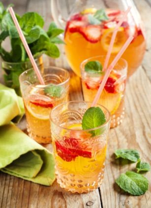 This gin-based beverage is a fresh take on England's classic Pimm's Cup cocktail. The recipe yields five servings, so it's ideal for entertaining as well. Ingredients:7.5oz Bombay Sapphire gin4oz Pimm's1oz lemon juice7.5oz ginger ale10 mint sprigs10 cucumber slices5 orange wheels6 strawberries Directions:Build with ice in punch bowl and stir. Recipe courtesy of Bombay Sapphire