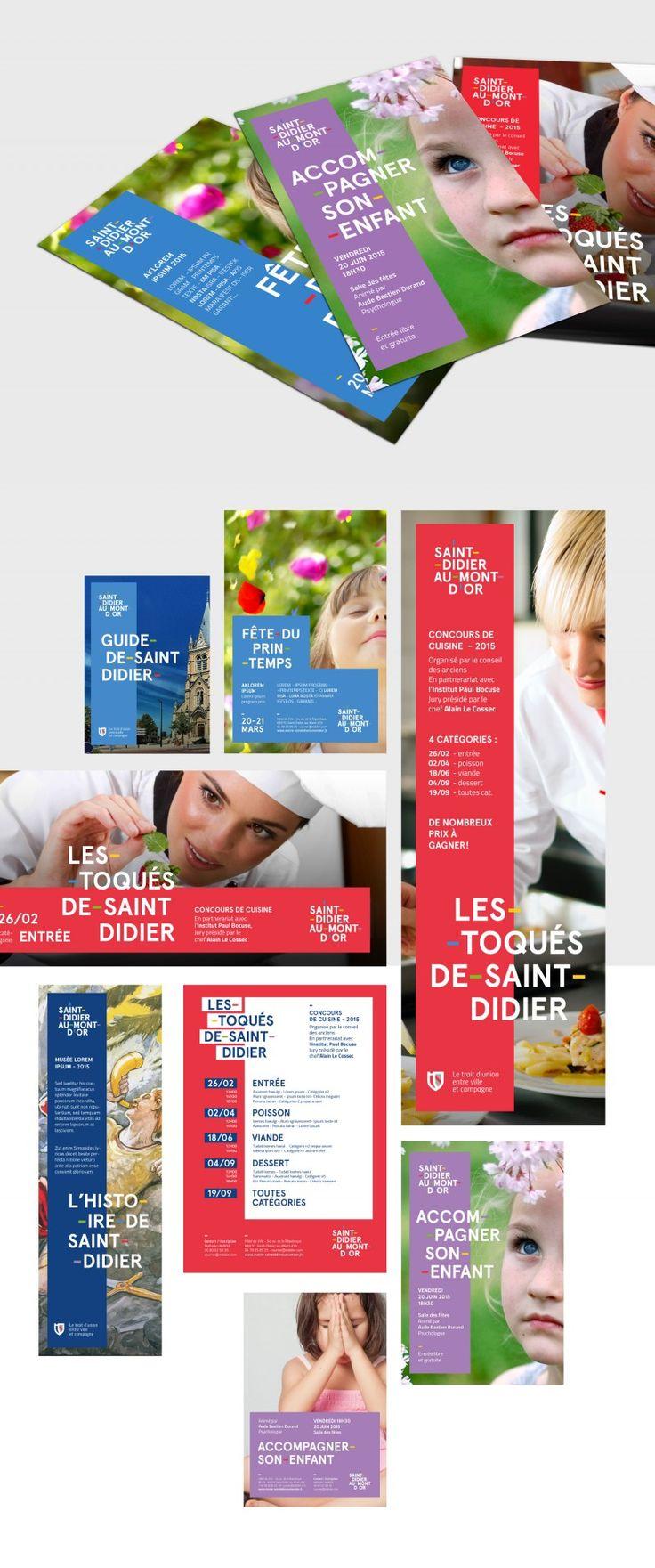 Nouvelle identité visuelle de la ville de Saint-Didier-Au-Mont-d'Or... le trait d'union entre ville et campagne !