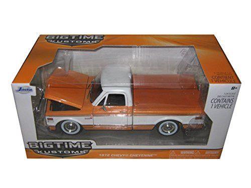 1972 Chevrolet Cheyenne Pickup Truck Orange 1/24 by Jada 96865