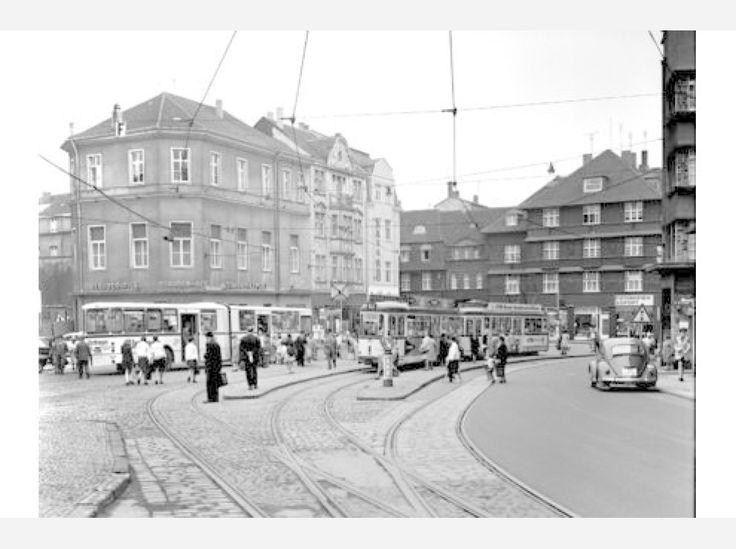 Der Kaiser-Otto-Platz in Essen-Steele im Mai 1969. Foto: Stadtbildstelle/Peter Happel