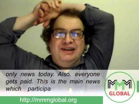 MMM Global, weekly news from Sergey Mavrodi  (2015.09.27)