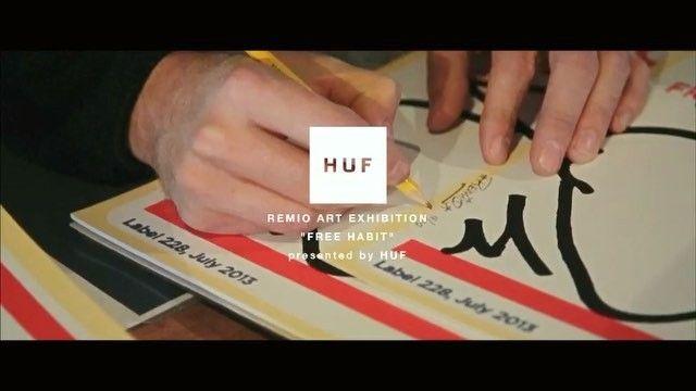 REMIO ART EXHIBITION 「FREE HABIT」presented by HUF OFFICIAL 動画が公開になりました。フルバージョンはHUF JPのFACEBOOKページにてぜひご覧になってください Movie directed by KEITA SUZUKI / Track by fitz ambro$e #HUF #hufworldwide #hufosaka #remio