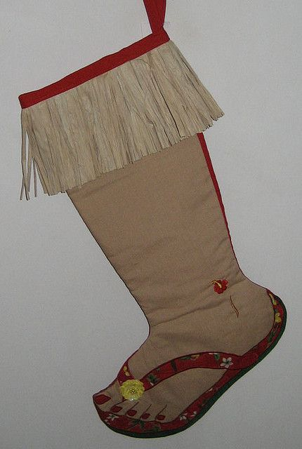 Hawaiian Flip Flop Christmas Stocking