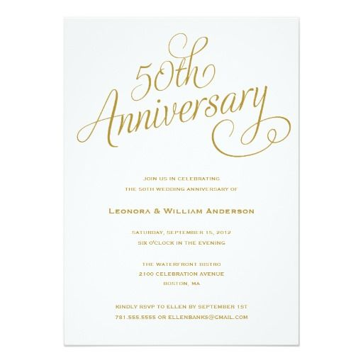272 best Wedding Anniversary Party Invitations images on Pinterest