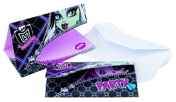 Invitaciones para cumpleaños de Monster High