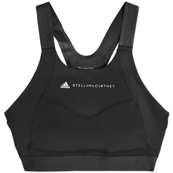 Adidas by Stella McCartney Performance Essentials Sports Bra (220 BRL) ❤ liked on Polyvore featuring activewear, sports bras, black, racerback sports bra, adidas sportswear, adidas, racer back sports bra and adidas sports bra