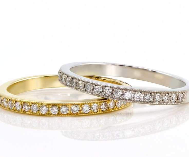 Lovely Buy Kt White u Yellow Gold Wedding Bands at wholesale Price from Dubai Wholesale Diamonds