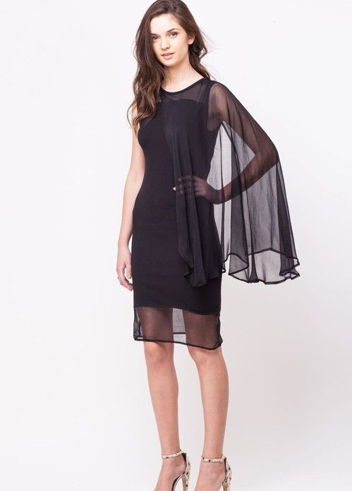 black dress for parties  via @Roposo #LBD