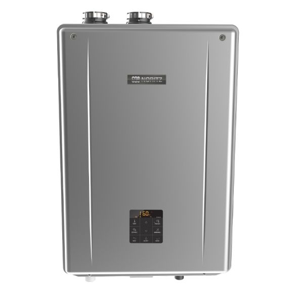 Noritz Nrcb180 Indoor Direct Convertible Vent Combination Boiler With Built In Pump Max 180 000 Btuh Dhw 9 8 Gpm In 2020 Domestic Hot Water Heating And Cooling Heat