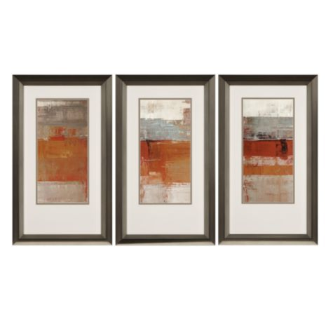 Family tv room - Mandarin Sunset - Set of 3 from Z Gallerie