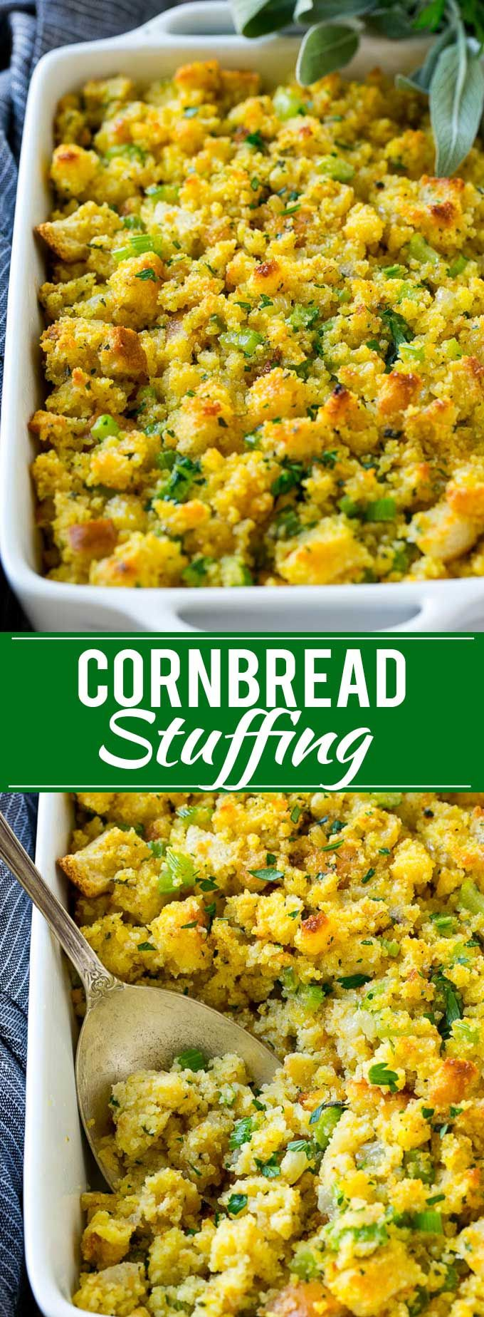 Southern Cornbread Dressing Recipe | Cornbread Stuffing - perfect for Thanksgiving side dish.