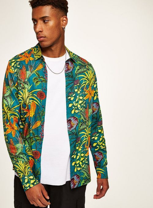 12a79d99 Jungle Foliage Long Sleeve Shirt Long Sleeve And Shorts, Long Sleeve  Shirts, Formal Shirts