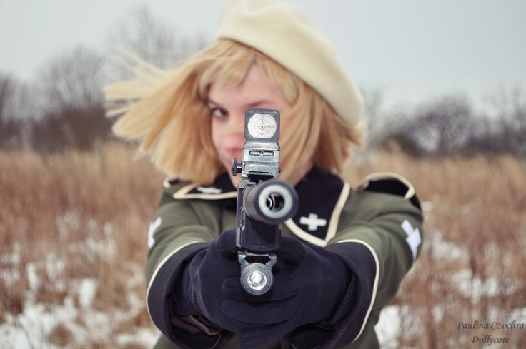 Anime: Hetalia- Szwajcaria by dollycore.deviantart.com on @deviantART - Brilliantly timed cosplay photo of Vash - it's a bit unnerving to be staring down the barrel of the gun, though.