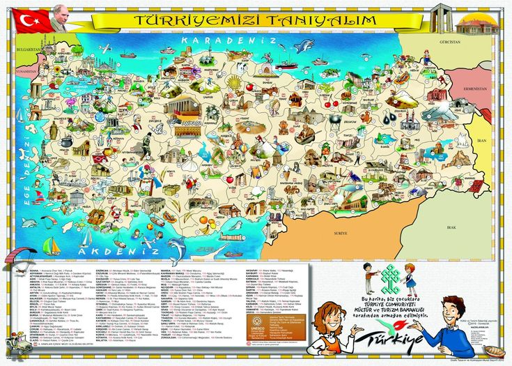 attractions maps of tourism attractions in turkey maps : New Zone