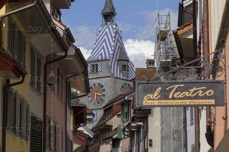 Oberaltstadt mit Zytturm im Kanton #Zug in der Schweiz (Switzerland)