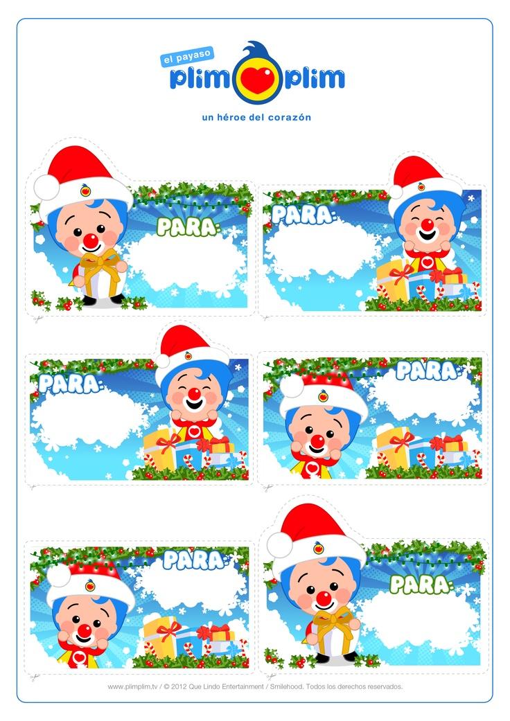¡Imprime y recorta las tarjetas para los presentes de estas fiestas!  ¡CLARO QUE Sí!