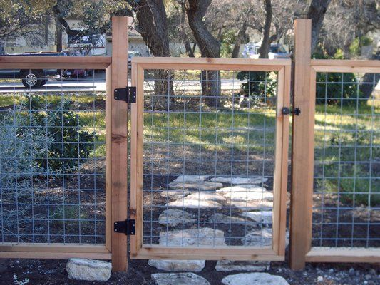 Bull wire fencing with cedar frame