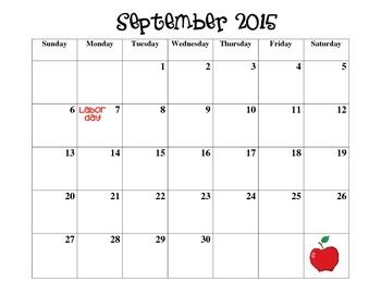 FREE 2015/2016 SCHOOL YEAR CALENDAR - August 2015-July 2016 | Top ...