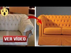Mira Una Técnica Súper Sencilla Y Económica Para Tapizar Tu Sofá Viejo y Dejarlo Como Nuevo - YouTube