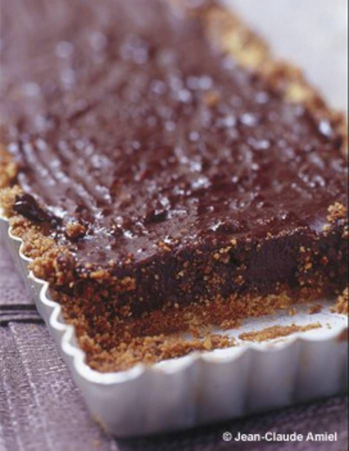 dessert au chocolat sans four : Tarte au chocolat sans cuisson