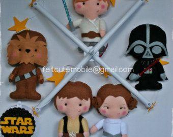 Star Wars móviles móvil de cuna de bebé vivero por AngelAndRose