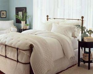 Ropa de cama de Marfil con arpillera falda por ZaraFee