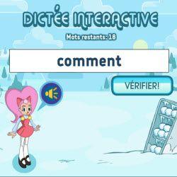 dictee interactive Orthographe au Quotidien + autres jeux math et français