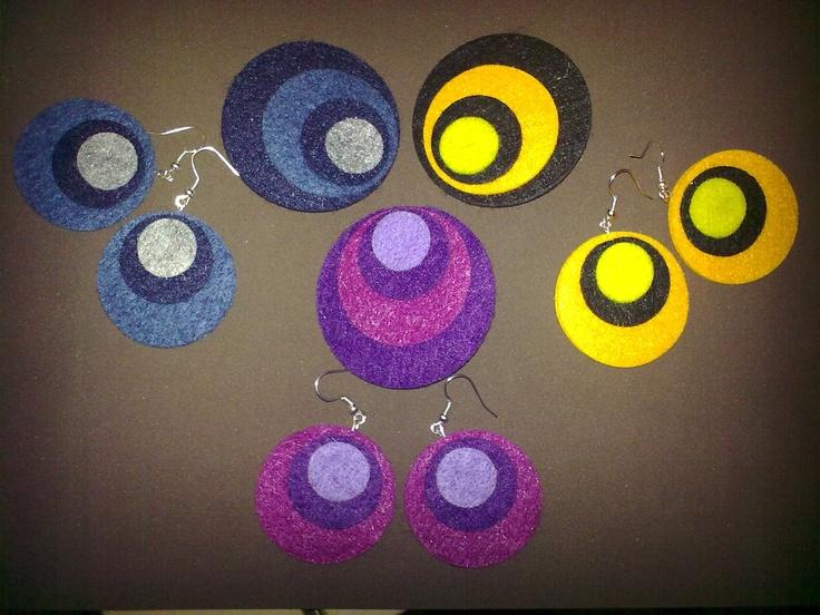 Felt Brooches and Earrings - Spille ed orecchini in feltro