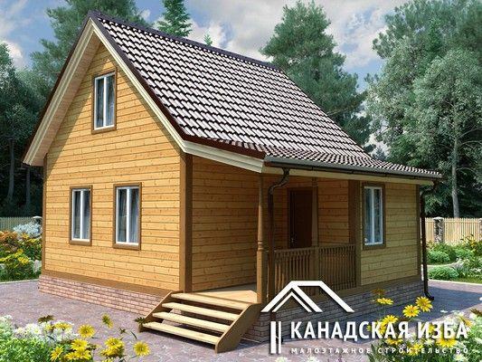 """Проект каркасного дома «Каркасный дом """"Лесник""""» под ключ, размер 6*8: описание, комплектация, цена"""
