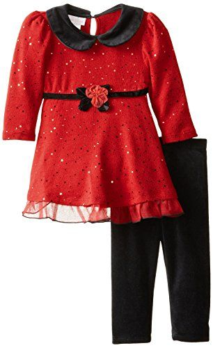 Bonnie Baby Baby Girls Spangle Sweater Legging Set Red 12 Months * Learn more by visiting the image link.