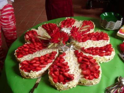 torta a fiore
