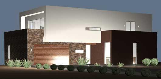 Planos y fachadas de casa habitaci n estilo minimalista for Casa minimalista 2 plantas