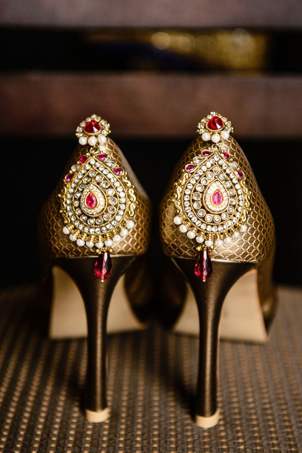 3a indian wedding jeweled shoes