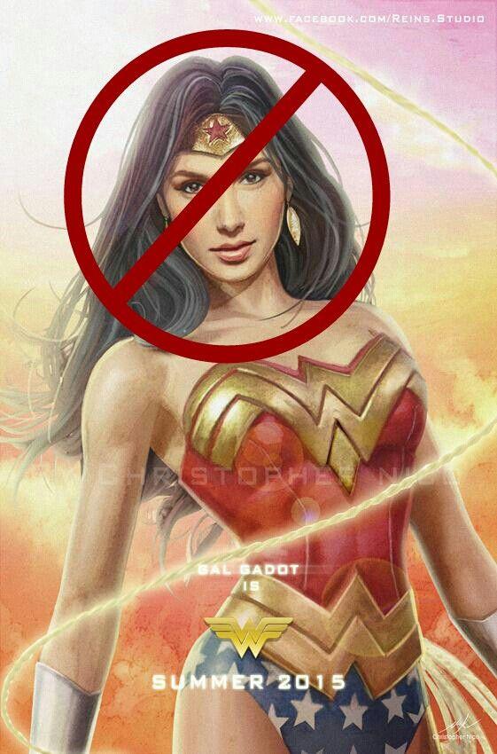 Wonder woman NOOO Gal gadot