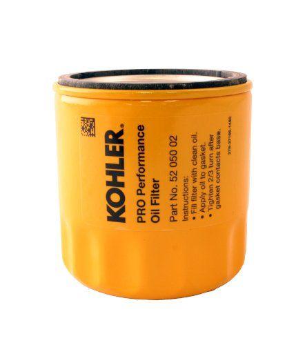 KOHLER 52 050 02-S Engine Oil Filter Extra Capacity For CH11 - CH15, CV11 - CV22, M18 - M20, MV16 - MV20 And K582 Kohler http://www.amazon.com/dp/B000O3IAE6/ref=cm_sw_r_pi_dp_UvT1ub0WYZ6V4 ***For Kubota Lawn tractor***