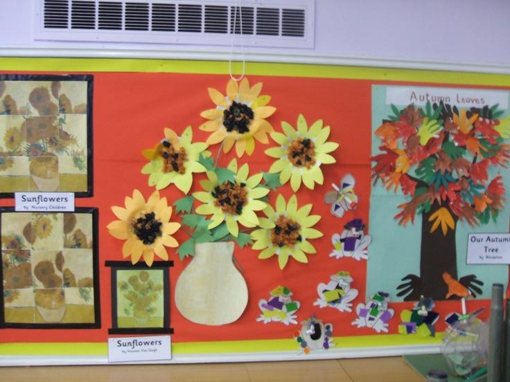 Innovative Classroom Names : Lovely van gogh sunflower display st bernadette s