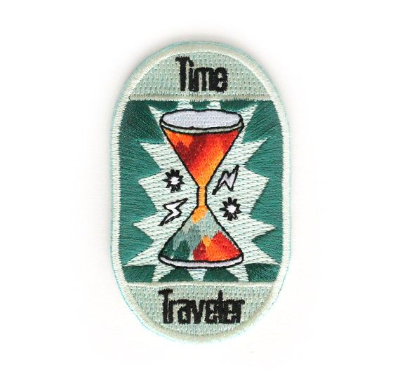 Time Traveler Iron On Patch by ZipperTeethShop on Etsy, $5.00