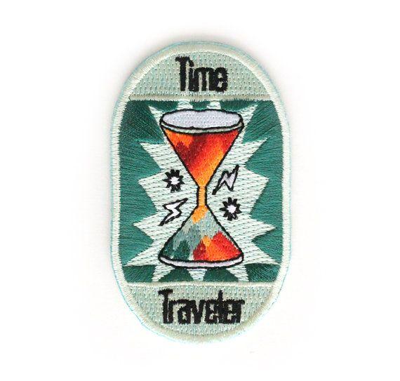 Tiempo viajero hierro en parche por MokuyobiThreads en Etsy